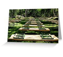 Some benches - and it's summer Greeting Card