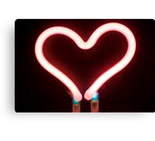 Neon heart Canvas Print