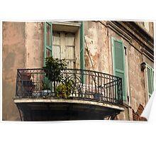 Balconies of Bourbon Street Poster