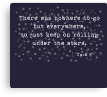 Under the stars. Kerouac Canvas Print