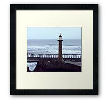 Harbour Light - Whitby Framed Print