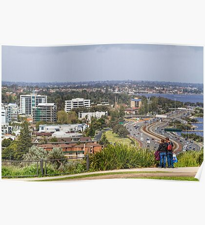 Perth City from Kings Park, Western Australia #3 Poster