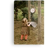 Leaning scale Metal Print