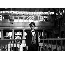 B&W Covent Garden Male Model Photographic Print