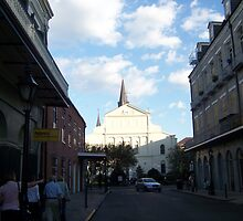 A rear View of The Cathedral in Jackson Square by Snoboardnlife