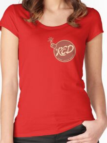 Red Team - Reliable Excavation Demolition Women's Fitted Scoop T-Shirt