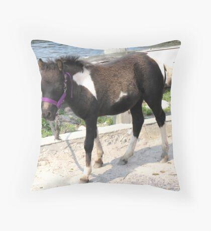 Petting Pony Throw Pillow