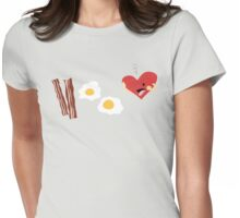 Who doesn't love bacon and eggs? Womens Fitted T-Shirt