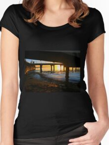 Black Rock Jetty Sunset - Victoria  Australia Women's Fitted Scoop T-Shirt
