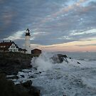 Portland Head Light at Sunset by Linda Jackson