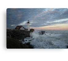 Portland Head Light at Sunset Canvas Print