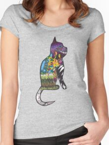 When Catnip Takes Over.  Women's Fitted Scoop T-Shirt