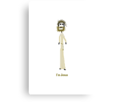 I'm Jesus Card Canvas Print