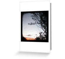 New England Sunset Greeting Card
