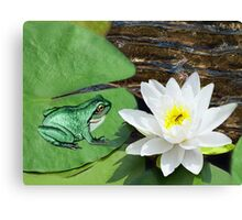 ⊱✿ ✿⊰⊹ ♧ ✿ THIS LILLY PAD IS NOT BIG ENOUGH FOR THE TWO OF US ⊱✿ ✿⊰⊹ ♧ ✿ Canvas Print