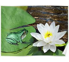 ⊱✿ ✿⊰⊹ ♧ ✿ THIS LILLY PAD IS NOT BIG ENOUGH FOR THE TWO OF US ⊱✿ ✿⊰⊹ ♧ ✿ Poster