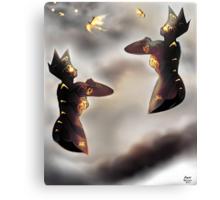 Free Robots of Pepper-Pot Land [Digital Fantasy Illustration] Canvas Print