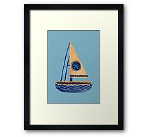 The Tribal Sailboat Framed Print