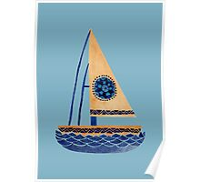 The Tribal Sailboat Poster