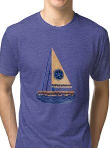 The Tribal Sailboat Tri-blend T-Shirt