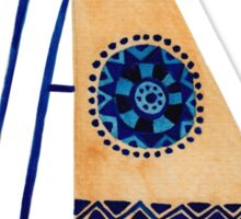 The Tribal Sailboat Sticker
