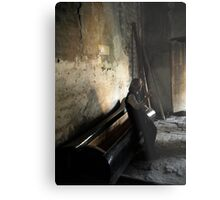 Edge of Her Coffin Metal Print