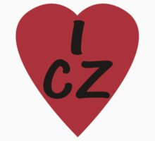 I Love Country Code CZ-Czech Republic T-Shirt & Sticker T-Shirt