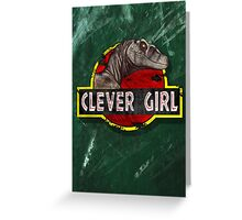 Clever Girl Greeting Card