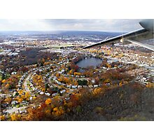 Providence, RI Fall Approach Photographic Print