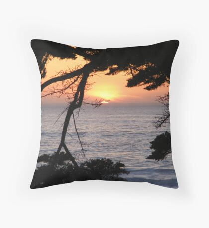 Sunset at Carmel Beach Throw Pillow
