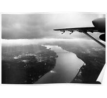 Hudson River, Newburgh Beacon Bridge B&W Poster