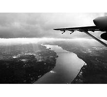 Hudson River, Newburgh Beacon Bridge B&W Photographic Print