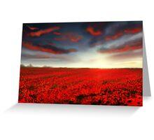 Speedpaint landscape: Flower Field Greeting Card