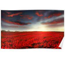 Speedpaint landscape: Flower Field Poster
