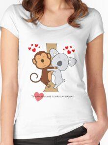 Koala-Monkey Love Women's Fitted Scoop T-Shirt