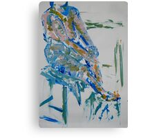 Life drawing (woman on a chair) Canvas Print