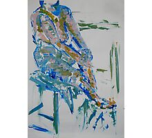 Life drawing (woman on a chair) Photographic Print