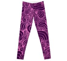 ACID PEACOCK Plum Jam: Purple/Pink Line Design Leggings Leggings