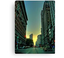 sunset on broadway Canvas Print