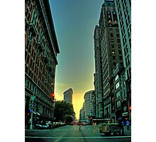 sunset on broadway Photographic Print