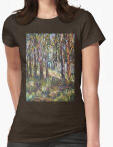 Gum Scrub - plein air paint out Womens Fitted T-Shirt
