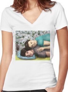 Hannibal - Will and Chilton Women's Fitted V-Neck T-Shirt