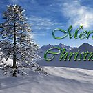Snowy hills Christmas card by Annika Strömgren