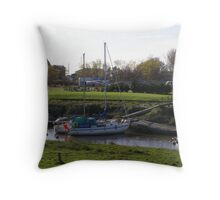 Boat in the water  Throw Pillow