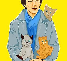 Sherlock and kittens by olgapanteleyeva