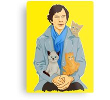 Sherlock and kittens Metal Print
