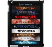 Supernatural intro seasons 1-10 iPad Case/Skin