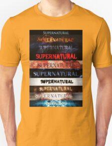 Supernatural intro seasons 1-10 Unisex T-Shirt