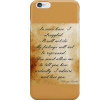 Darcy's Proposal iPhone Case/Skin