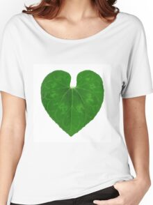 Love Heart Leaf Women's Relaxed Fit T-Shirt